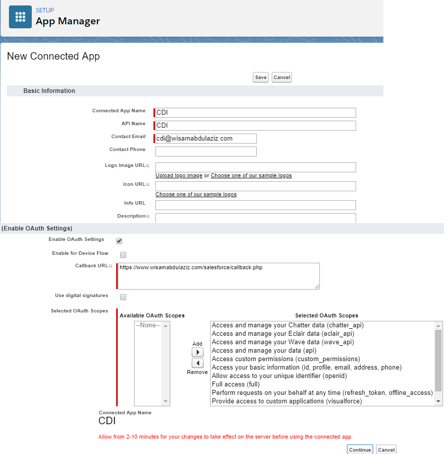 salesforce-App-CID